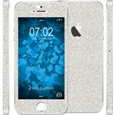 2 x Glitter foil set for Apple iPhone SE silver protection film