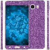 2 x Glitter foil set for Samsung Galaxy J5 (2016) J510 purple protection film