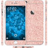 2 x Glitzer-Folienset für Apple iPhone 6s Plus / 6 Plus rosa