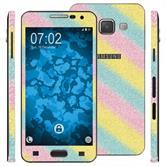2 x Glitzer-Folienset für Samsung Galaxy A3 (A300) rainbow