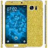 2 x Glitzer-Folienset für Samsung Galaxy S7 Edge gold