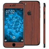 2 x Holzoptik-Folienset für Apple iPhone 7 braun