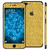 2 x Glitzer-Folienset für Apple iPhone 7 Plus / 8 Plus gold