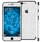 2 x Glitzer-Folienset für Apple iPhone 7 Plus silber