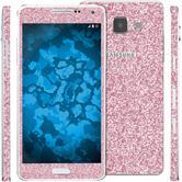 2 x Glitzer-Folienset für Samsung Galaxy A5 (A500) rosa