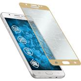 2 x Galaxy J7 (2016) J710 Protection Film Tempered Glass clear full screen gold