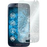 2x Galaxy S4 klar Glasfolie