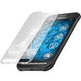 2x Galaxy Xcover 3 klar Glasfolie
