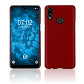 Hardcase Galaxy A10s rubberized red Cover