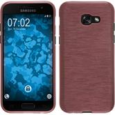 Silikon Hülle Galaxy A5 2017 brushed rosa + 2 Schutzfolien