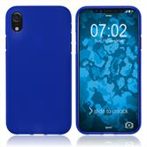 Silicone Case iPhone Xr matt blue Case