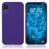 Silikon Hülle iPhone Xr matt lila Case