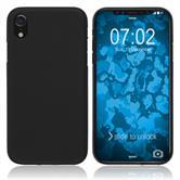 Silikon Hülle iPhone Xr matt schwarz Case