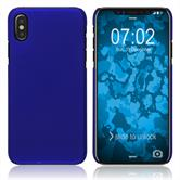 Hardcase iPhone Xs rubberized blue Cover