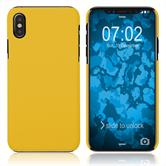Hardcase iPhone Xs rubberized yellow Cover