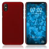 Hardcase iPhone Xs rubberized red Cover