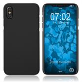 Hardcase iPhone Xs rubberized black Cover
