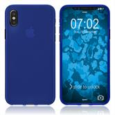 Silicone Case iPhone Xs Max matt blue Case