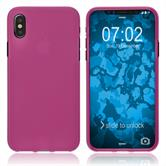 Silicone Case iPhone Xs Max matt hot pink Case