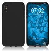Silicone Case iPhone Xs Max matt black Case