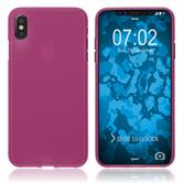 Silicone Case iPhone XS matt hot pink Case