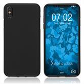 Silikon Hülle iPhone XS matt schwarz Case