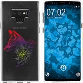 Samsung Galaxy Note 9 Silikon-Hülle Floral  M1-5