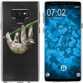 Samsung Galaxy Note 9 Silicone Case vector animals sloth M6