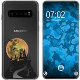 Samsung Galaxy S10 Coque en Silicone automne M4