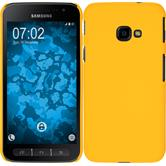 Hardcase Galaxy Xcover 4 rubberized yellow + protective foils
