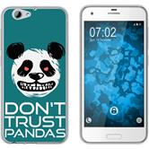 HTC One A9s Silicone Case Crazy Animals Panda M2
