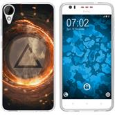 HTC Desire 825 Silicone Case Element fire M3