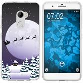 HTC One X10 Silicone Case Christmas X Mas M5