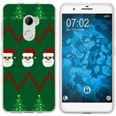 HTC One X10 Silicone Case Christmas X Mas M7
