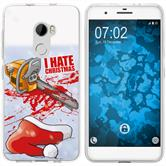 HTC One X10 Silicone Case Christmas X Mas M8