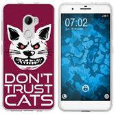 HTC One X10 Silicone Case Crazy Animals M1