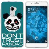 HTC One X10 Silicone Case Crazy Animals Panda M2