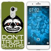 HTC One X10 Silicone Case Crazy Animals sloth M3