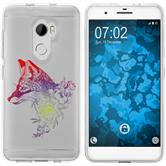HTC One X10 Silicone Case floralFox M1-5