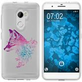 HTC One X10 Silicone Case floralFox M1-6