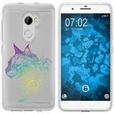 HTC One X10 Custodia in Silicone floral  M2-4