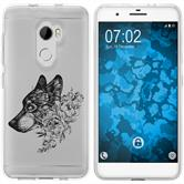 HTC One X10 Silicone Case floral M3-1
