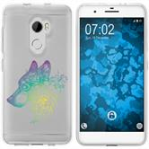 HTC One X10 Silicone Case floral M3-4