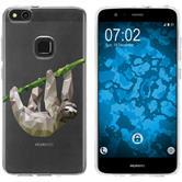 Huawei P10 Lite Funda de silicona animales de vectores sloth M6