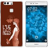 Huawei P9 Silicone Case in Love M3