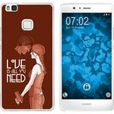 Huawei P9 Lite Silicone Case in Love M3