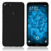 Silicone Case Y7 Prime (2018) matt black Case