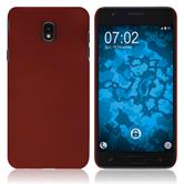 Hardcase Galaxy J7 (2018) rubberized red Cover