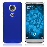 Hardcase Moto E5 Plus rubberized blue Case