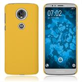 Hardcase Moto E5 Plus gummiert gelb Case